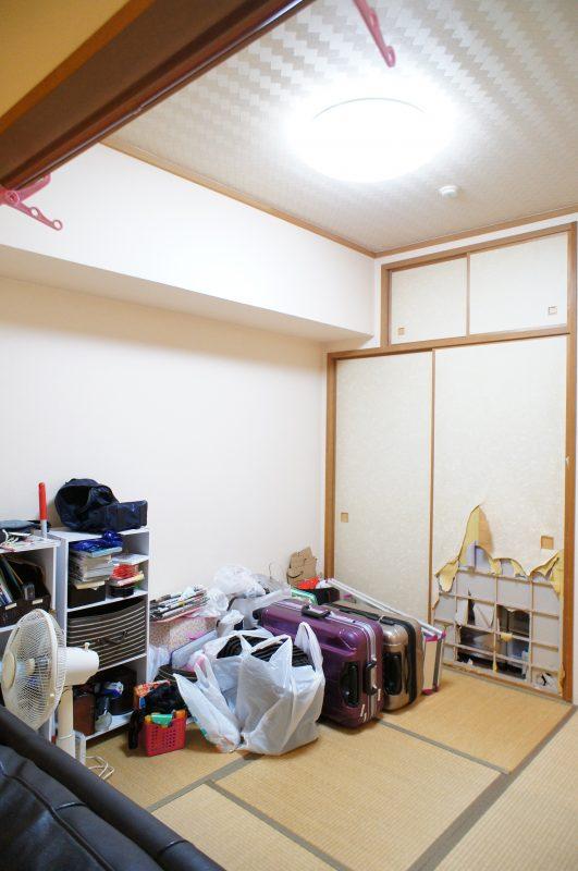 リフォーム工事前の和室
